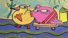 """Esta vez, Panam tomó un hermoso poema de Gloria Fuertes titulado """"La pata mete la pata"""" para leerle a los chicos. El artista plástico, Claudio Baldrich escuchó cada una de las palabras y le dio color y vida al escrito."""