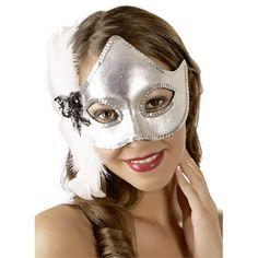 Zilverkleurig masker