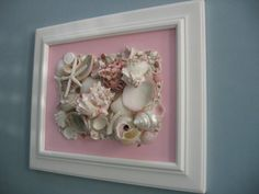 For my new bathroom-- Seashell Art Collage in pink and white