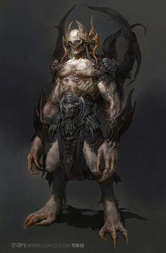 Monster by fengua-zhong on DeviantArt Dark Fantasy Art, Fantasy Rpg, Fantasy Artwork, Ange Demon, Demon Art, Dark Creatures, Mythical Creatures, Monster Design, Monster Art
