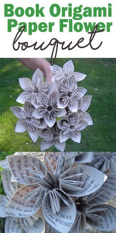 book origami paper flowers is perfect for your wedding flower or gift ideas for book lovers! #Ad