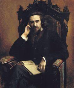 Kramskoy - Portrait of Vladimir Soloviyev, 1885. -  Портрет философа Владимира Сергеевича Соловьёва. 1885г.