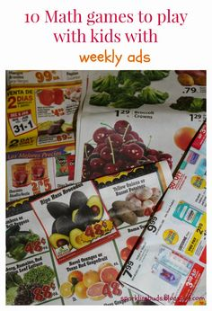 Math games to play with kids with weekly ads! Free and fun!