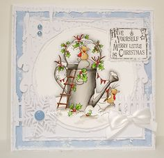 Good Morning Everyone, Here is another Christmas card using one of the gorgeous new stamps from Lili of the Valley .This is...Christmas ...