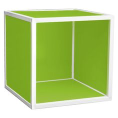 Eco-friendly storage cube with a lid.   Product: Storage cubeConstruction Material: Fiberboard and plastic
