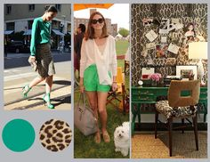emerald + leopard.. Try our matte laminated Emerald shopper with leopard tissue for an elegant look!