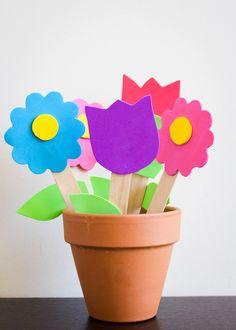 Foam Flower Garden Craft - Plain Vanilla Mom
