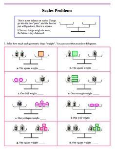 Risultati immagini per solving two step equations with balancing scales worksheet Algebra Worksheets, Maths Algebra, Math Classroom, Preschool Math, Printable Math Games, Free Printable, Balancing Equations, Logic Problems, Two Step Equations