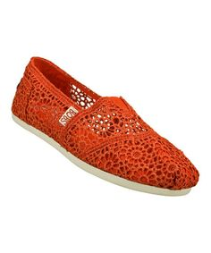 Red Plush Slip-On Shoe http://ricochetranch.dressingyourtruth.com