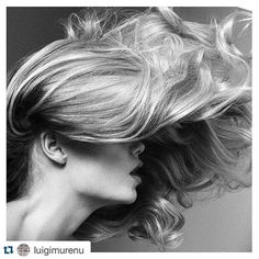 #Repost @luigimurenu ・・・ 'Hair has to express movement and beauty '. This is one of my favorite blows from my editorial archives that I did dreaming on movement using only two products from @kerastase_official MousseBouffante #ElixirUltime. Photo @luigiandiango #kerastase #luigimurenu #getthislook #hair #hairstyle