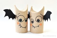 Toliet roll bats - would be cute for students to do to get excited about Halloween!