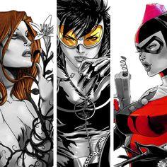 "batman-who: ""Gotham City Sirens Art "" Comic Book Characters, Marvel Characters, Comic Character, Comic Books Art, Comic Art, Dc Comics Art, Comics Girls, Charlie Chaplin, Gotham City"