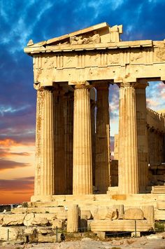 The Parthenon Temple, the Acropolis of Athens in Greece ~ UNESCO World Heritage Site.  Photo: Paul Williams