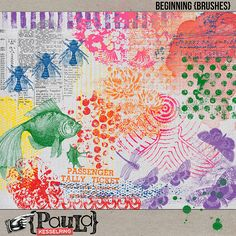 Oscraps :: Shop by Category :: Altered Art/Collage/Art Journaling :: Beginning {Brushes}