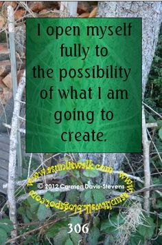 306 I open myself fully to the possibility of what I am going to create | A Sunlit Walk