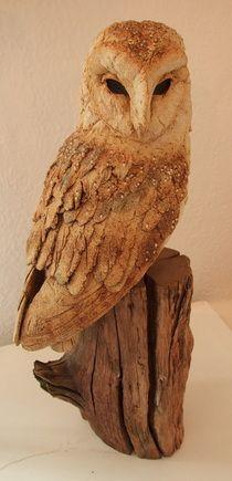 Simon Griffiths - The Gallery, Masham Textile Sculpture, Bird Sculpture, Animal Sculptures, Owl Sketch, Wood Owls, Clay Birds, Owl Fabric, Paper Birds, Ceramic Birds
