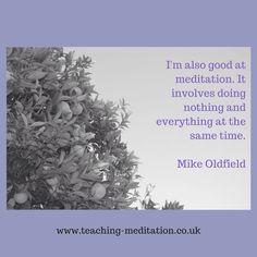 Meditation = nothing & everything