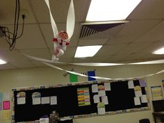 Elf on the shelf at school day 2:  students write from the elf's point of view about what he did during the night.