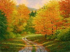 Paintings Paintings and Drawings: Autumn Oils Modern Landscapes of Charl . - Maria Teresa Peña Aguilera - - Modern Paintings Paintings and Drawings: Autumn Oils Modern Landscapes of Charl .