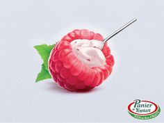 The Print Ad titled Rasberry was done by Comkoi, Mayotte advertising agency for product: Panier De Yoplait Yoghurt (brand: Yoplait) in Mayotte. Print Advertising, Creative Advertising, Print Ads, Marketing And Advertising, Guerrilla Marketing, Marketing Ideas, Gelato, Branding, Photomontage