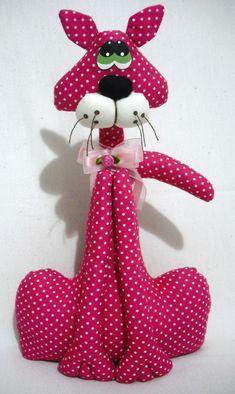 Lindo peso de porta, feito em tecido 100% algodão. Pode ser feita em diversas cores. Plushie Patterns, Craft Patterns, Sewing Patterns, Bunny Crafts, Diy And Crafts, Christmas Crafts, Cat Fabric, Fabric Toys, Sewing Toys