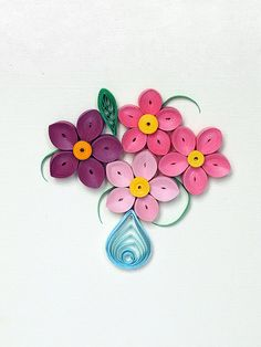 Quilling Greeting Card  Have a wonderful day floral by szalonaisa, $8.50