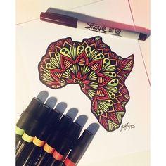 Vibrant Africa order is complete! #africa #zentangle #zenspire #blynndesigns #sharpie #art