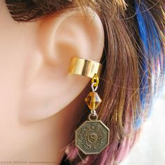 Gold Coin Cartilage Ear Cuff Earring