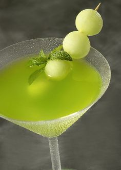 Wedding Drink Ideas: Honeydew Melon Martini -