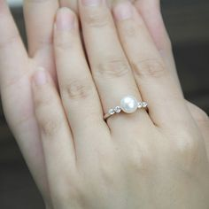 Pearl+promise+ring+for+girlsreal+pearl+ringfreshwater+by+PearlOnly