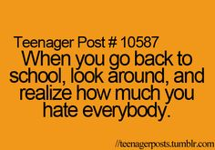 Gallery For > Teenager Post Tumblr School