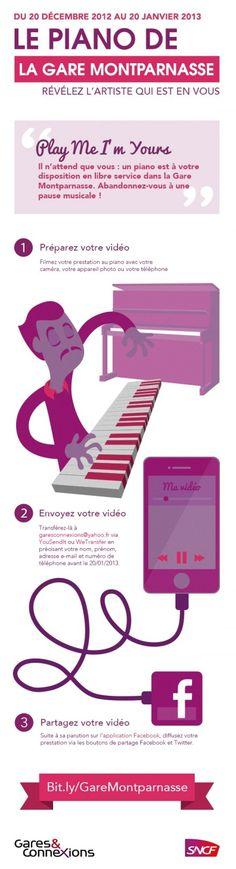 L'agence digitale acti lance l'application Facebook  « Le piano de la gare Montparnasse ».