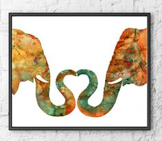 Watercolor Art Print Elephant Love - Animal Painting  Hello, I am full time artist from Europe. This is a high quality giclee print of my original