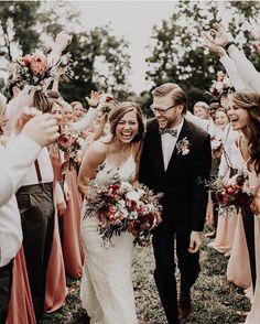 When you walk back down the aisle as a married couple 🤗#Happy #Married 📸 Photography by @peytonrbyford | Floral design @juniperdesigns | Venue @springsvenue | @csimms32 @ryan.tyler.brownen #weddingchicks #weddingblog