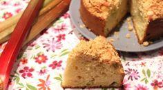 Gâteau à la rhubarbe et aux amandes