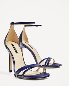 6f0d0fada84 New Zara Strappy Heeled Leather Sandals Size 6 Second item ship for free.  Leather High Heels ...