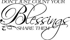 Wall decal  family  blessings  home  Don't  just by bushcreative, $15.00