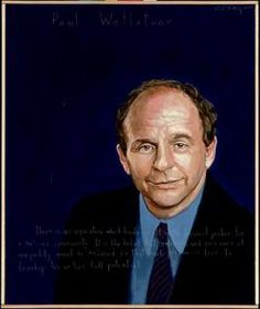 """Paul Wellstone  Political Science Professor, U.S. Senator : 1944 – 2002    """"There is an aspiration that binds us. It is the dream of justice for a beloved community. It is the belief that extremes and excesses of inequality must be reduced so that each person is free to develop his or her full potential."""" AWTT Portrait by Robert Shetterly."""