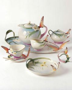 Perfect spring tea set.