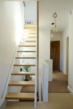 Banisters, balustrades and building regs - The alternative loft staircase - - If you're looking for an alternative to the winder staircase up to your loft conversion, and aren't afraid of putting the hours in, you might like this. Loft Conversion Stairs, Attic Conversion, Loft Conversions, Loft Conversion New Build, Small Loft Spaces, Attic Spaces, Stair Railing Design, Home Stairs Design, Loft Staircase