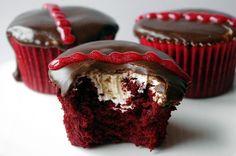 Red velvet hostess cupcakes.