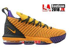 Nike Lebron 16 EP LBJ Jaune/Noir/Pourpre Chaussures Officiel Nike Basket Prix Pour Homme