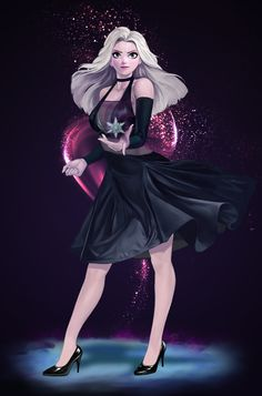 Kai Fine Art is an art website, shows painting and illustration works all over the world. Disney Princess Superhero, Dark Disney Princess, Disney Frozen Elsa, Gothic Disney Princesses, Goth Disney, Disney Art, Elsa Anime, Modern Disney Characters, Frozen Pictures