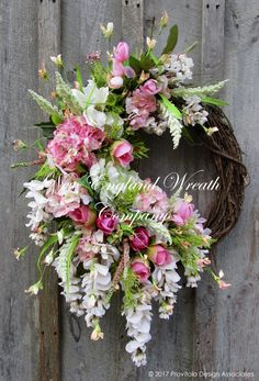 Chatham Cottage Garden Wreath  ~A New England Wreath Company Designer Original~