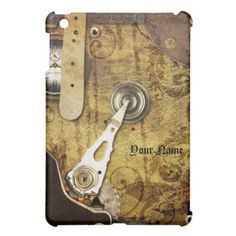 Viintage Steampunk Gears & Leather Faux Case iPad Mini Cases