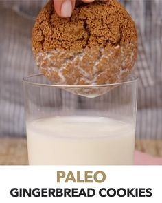The Best Paleo Gingerbread Cookies recipe that happens to be gluten-free, refined sugar-free, grain-free and dairy-free. Made with almond flour and sweetened wi Chocolate Chip Cookies, Chocolate Cookie Recipes, Chocolate Chip Oatmeal, Gluten Free Chocolate, Healthy Gingerbread Cookies, Paleo Cookies, Sugar Cookies Recipe, Healthy Cookie Recipes, Oatmeal Cookie Recipes