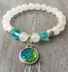 Mermaid Bracelet Mermaid Jewelry Mermaid Charm Beaded by indietiez