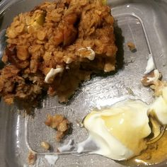 Baked apple and walnut oatmeal slice