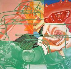 """""""Cage"""", Oil and Acrylic on Canvas, by James Rosenquist. Jasper Johns, Roy Lichtenstein, Robert Rauschenberg, Andy Warhol, David Hockney, Richard Hamilton, James Rosenquist, Modern Art, Contemporary Art"""