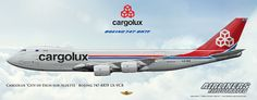 Cargolux City of Esch-sur-Alzette Boeing 747-8R7F LX-VCB.Airliners Illustrated® by Nick Knapp©.